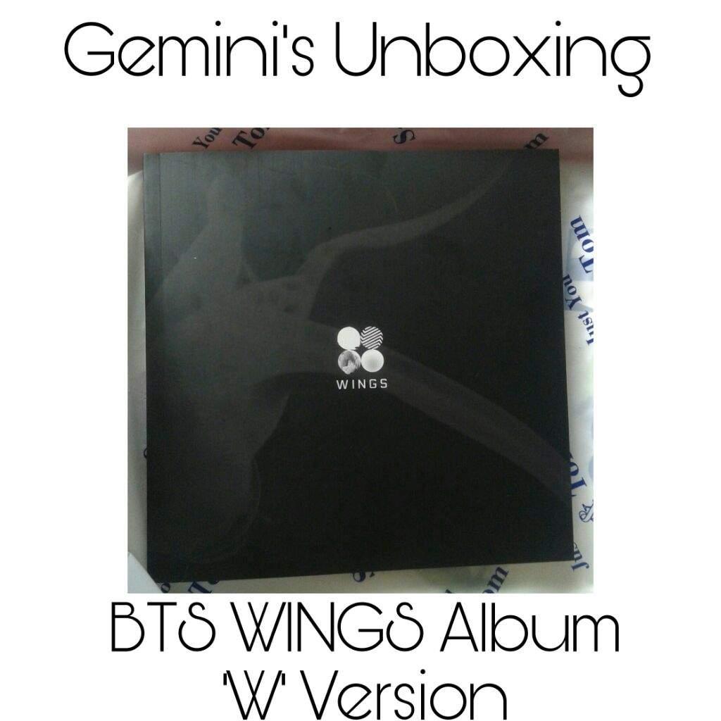 Unboxing] BTS WINGS Album 'W' Version   K Pop Amino