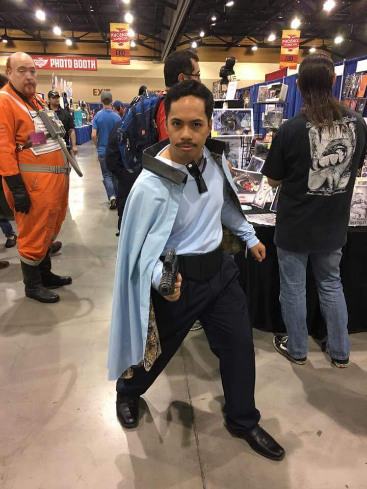 lando calrissian at phx fanfest cosplay amino