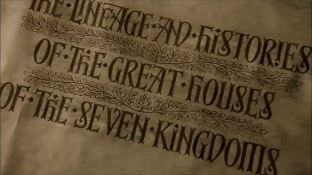 Image result for The Lineages and Histories of the Great Houses of the Seven Kingdoms.