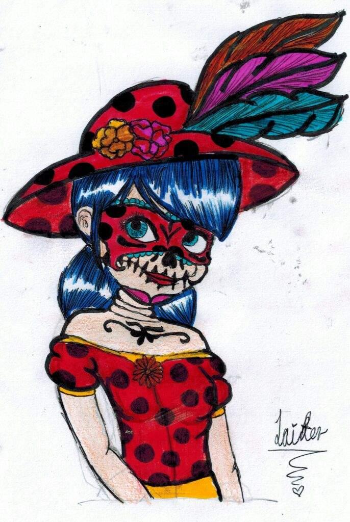 La Catrina Ladybugtodoslossantos Miraculous Ladybug Español Amino