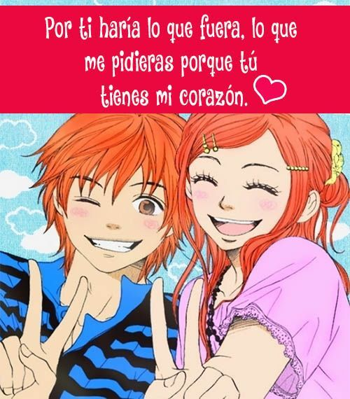 Con Frases Amor Kawaii Love Anime Www Picturesboss Com
