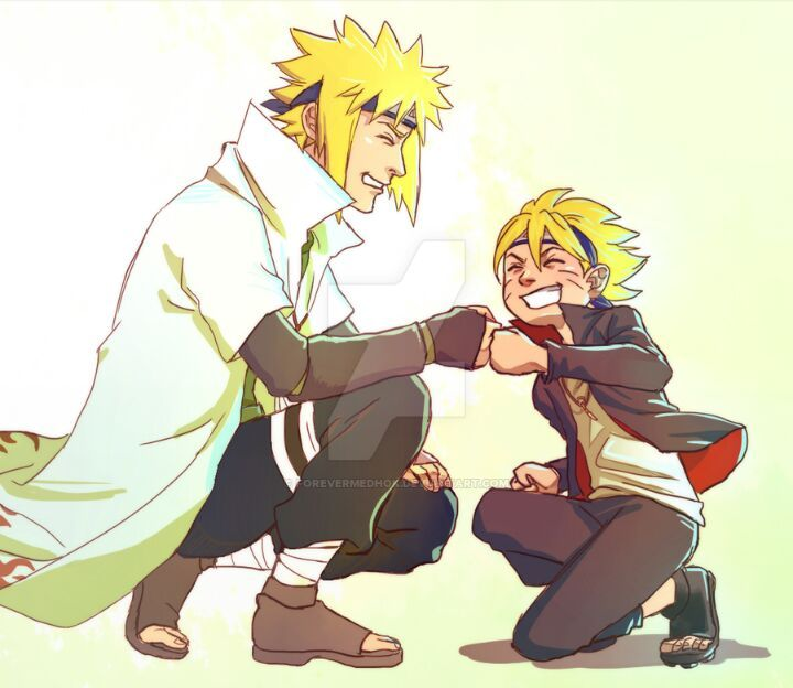 what if minato and boruto would meet each other anime amino