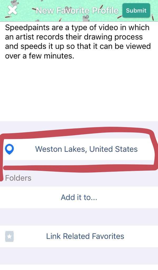How to change current location