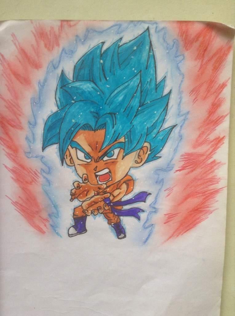 Goku Super Saiyan Blue Kaioken X 10 Chibi Dragonballz Amino