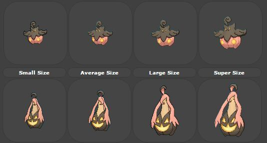 how to tell pumpkaboo size