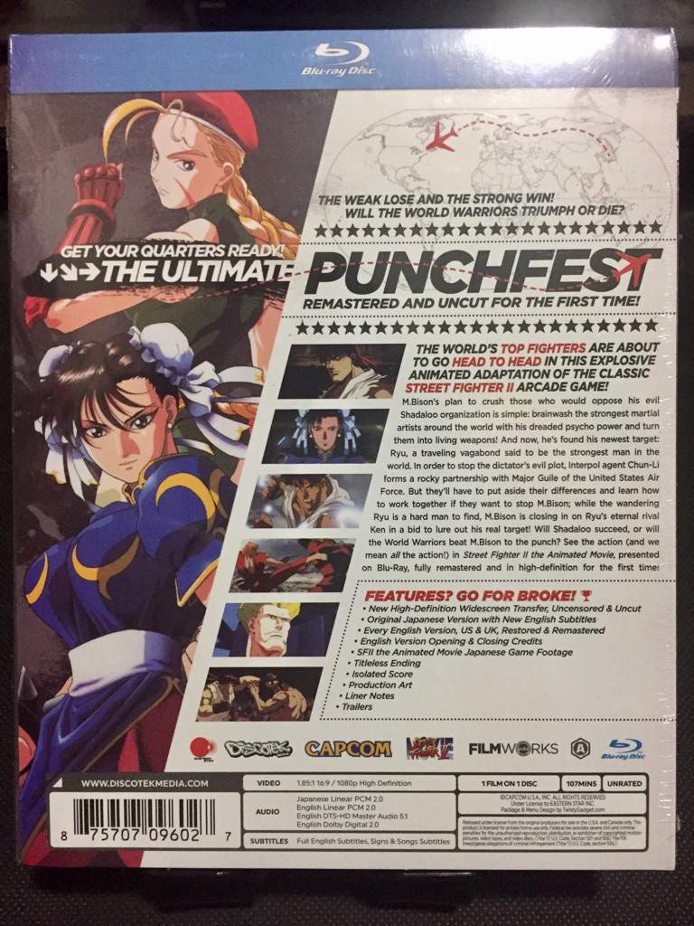 Street Fighter Ii The Animated Movie Blu Ray Blu Ray Anime Amino