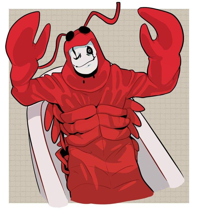 gaster in a lobster outfit undertale amino