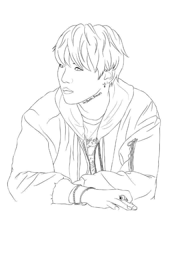 Line Art Kpop : Yoongi wip finished outline army s amino