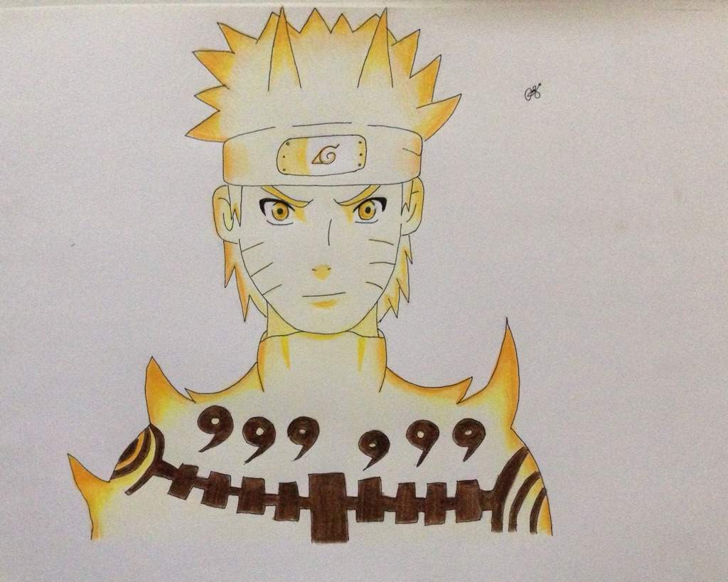 Kyuubi Mode Naruto Drawing | Anime Amino