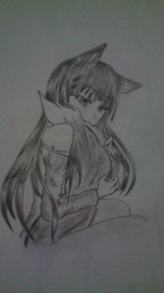 Eh Aqui Mi Dibujo De Horo La Sabia Loba 3 Anime Amino