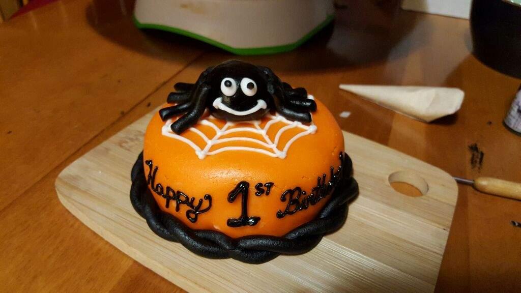 Halloween Theme Birthday Cake Sugar Art Amino