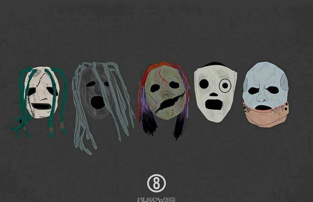 fd2e67a91 Slipknot  Evolución de sus máscaras. (Corey Taylor).