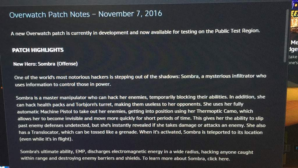 Sombra is now available on the PTR servers | Overwatch Amino