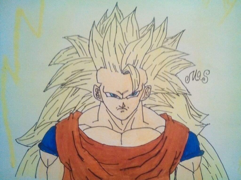 I Finished Yeahhhhhhhh Drawing Goku Super Saiyan 3