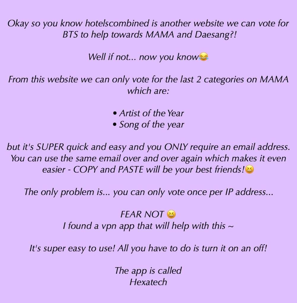 ❗️UPDATED❗️OTHER WAYS TO VOTE FOR BTS FOR MAMA
