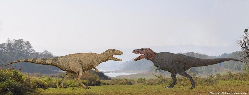 Who Would Win Giganotosaurus Or T Rex | Prehistoric Amino ...Giganotosaurus Vs Spinosaurus Who Would Win