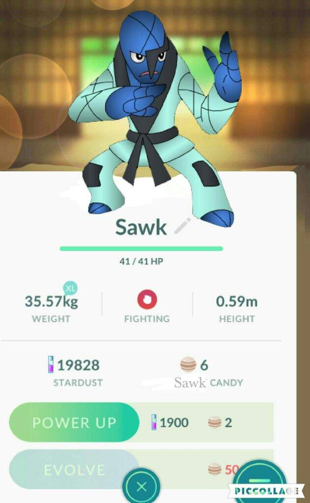 I Just Caught A Sawk Pokémon Amino
