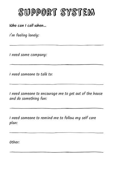 15 Self-Care Worksheets and Tip Sheets | Supportive Amino ...