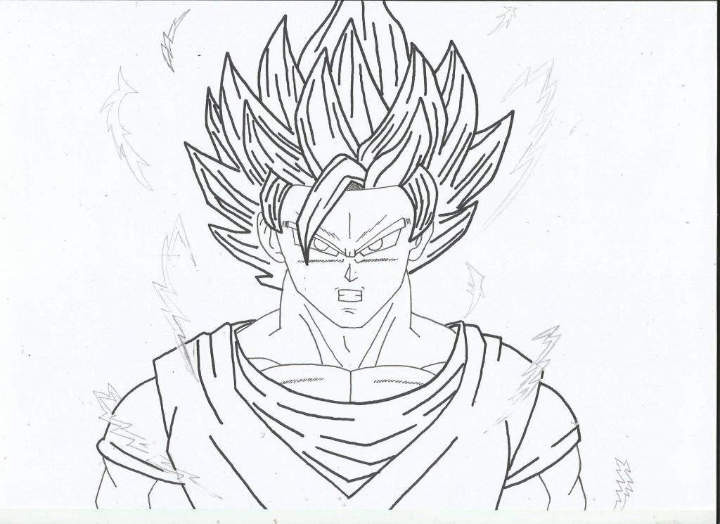 Goku Pequeño Para Colorear: •Arte Amino• Amino