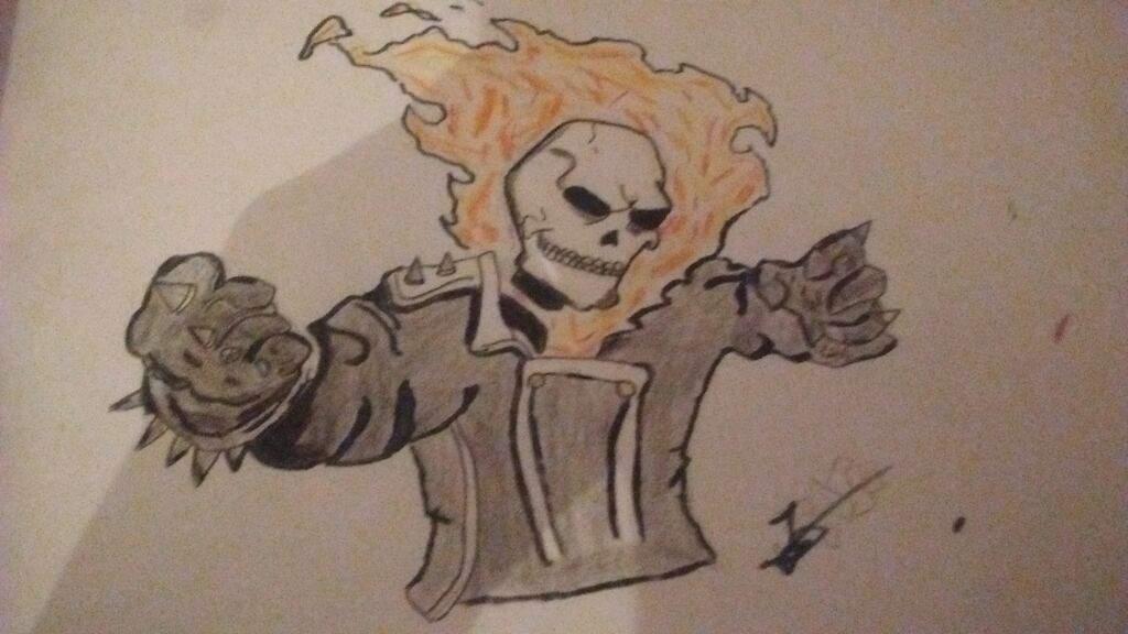 Ghost Rider Dibujo Cómics Amino