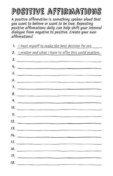18 Self-Esteem Worksheets and Activities for Teens and Adults ( PDFs)