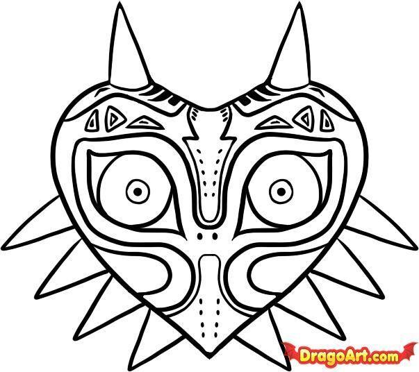 Asombroso La Leyenda De La Máscara De Zelda Majoras Para Colorear ...