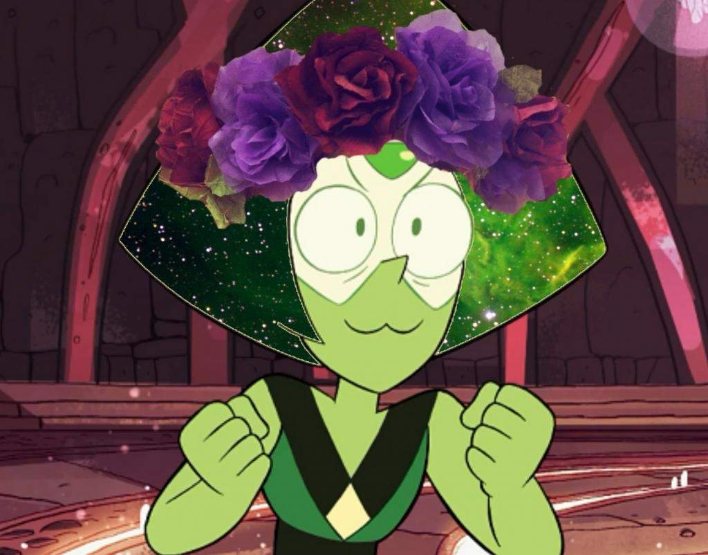 Flower crown galaxy hair edits steven universe amino also im pretty proud of the rose one her hair took me about a half hour to do izmirmasajfo
