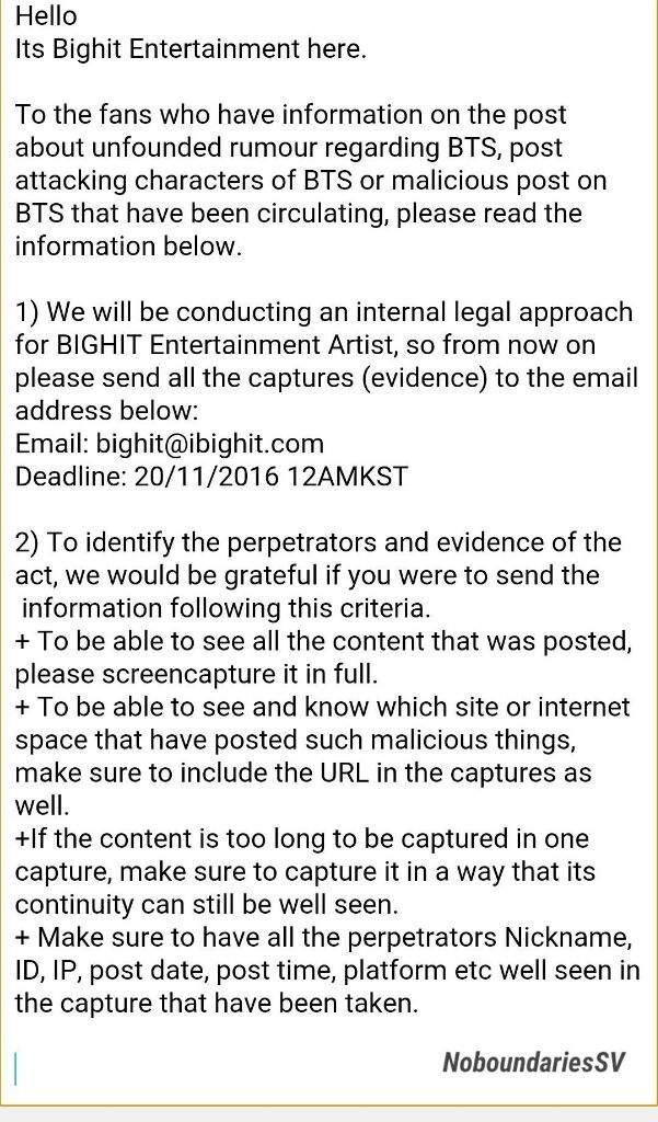 IMPORTANT NOTICE FROM BIGHIT ENTERTAINMENT | ARMY's Amino