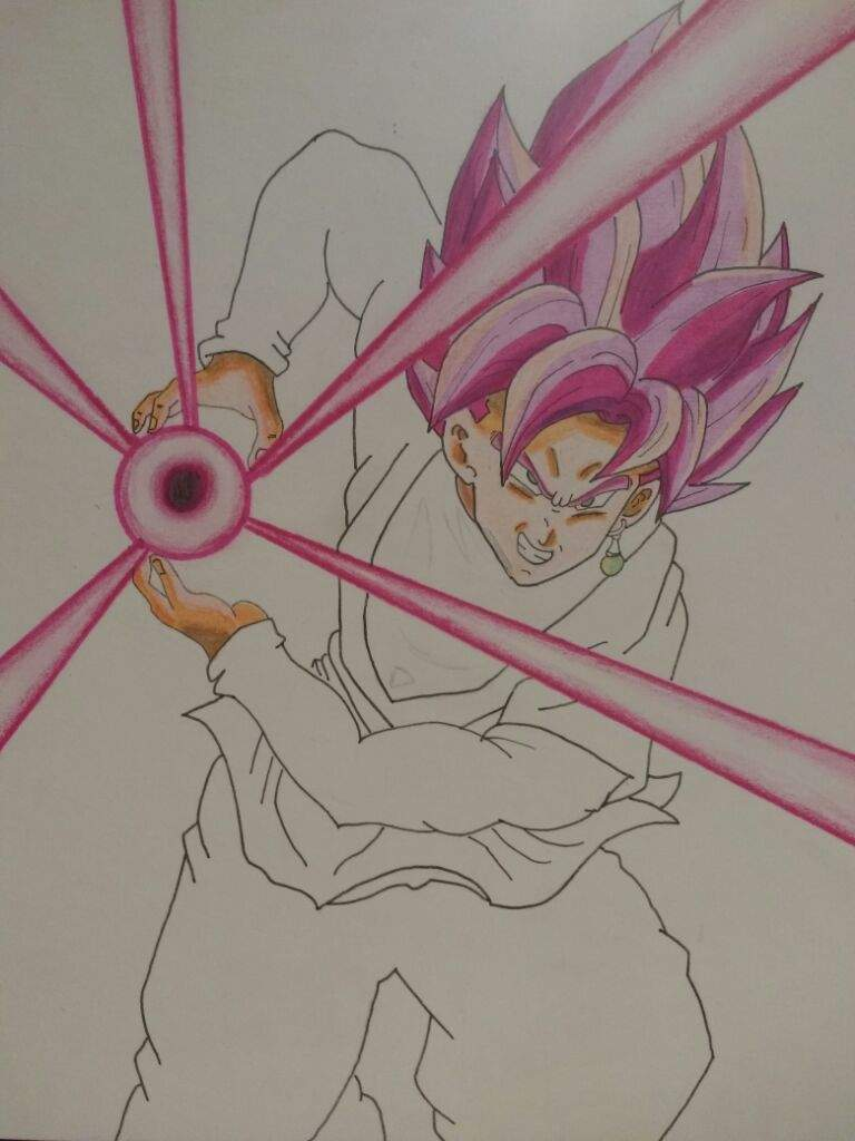 Dibujo De Black Goku Rose Arte Amino Amino