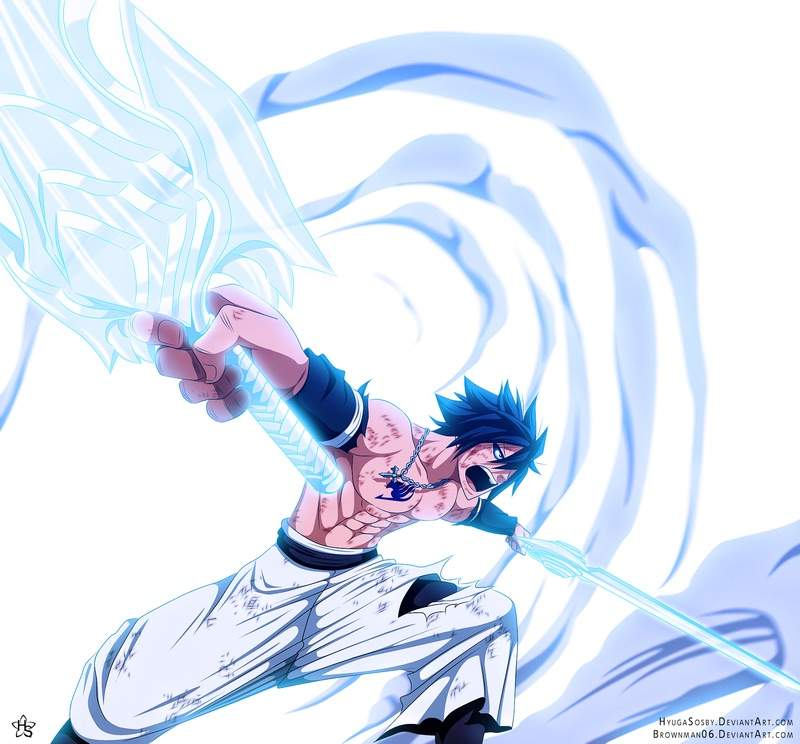 Gray Fullbuster Is An Ice Make User From The Fairytail Guild But Became Devil Slayer Later On In Series
