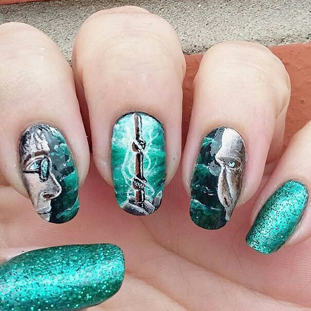 Harry Potter Nail Art Harry Potter Amino