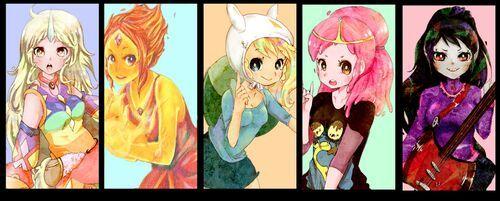 Hora de aventura 3 anime seccion dibujos animados versin anime fionna y finn thecheapjerseys Images