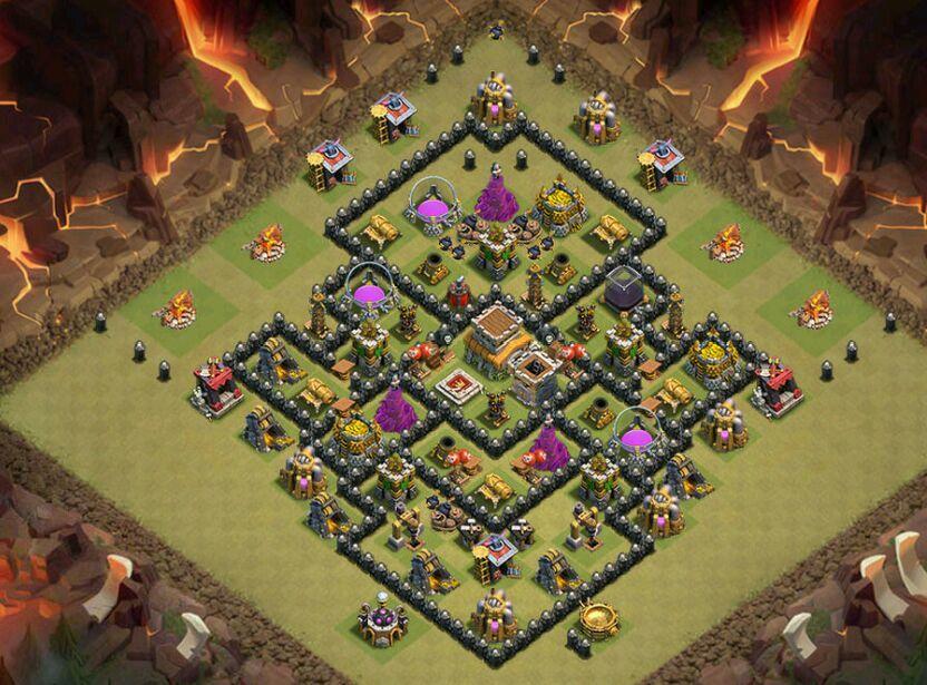 layout de cv8 clash of clans pt br amino