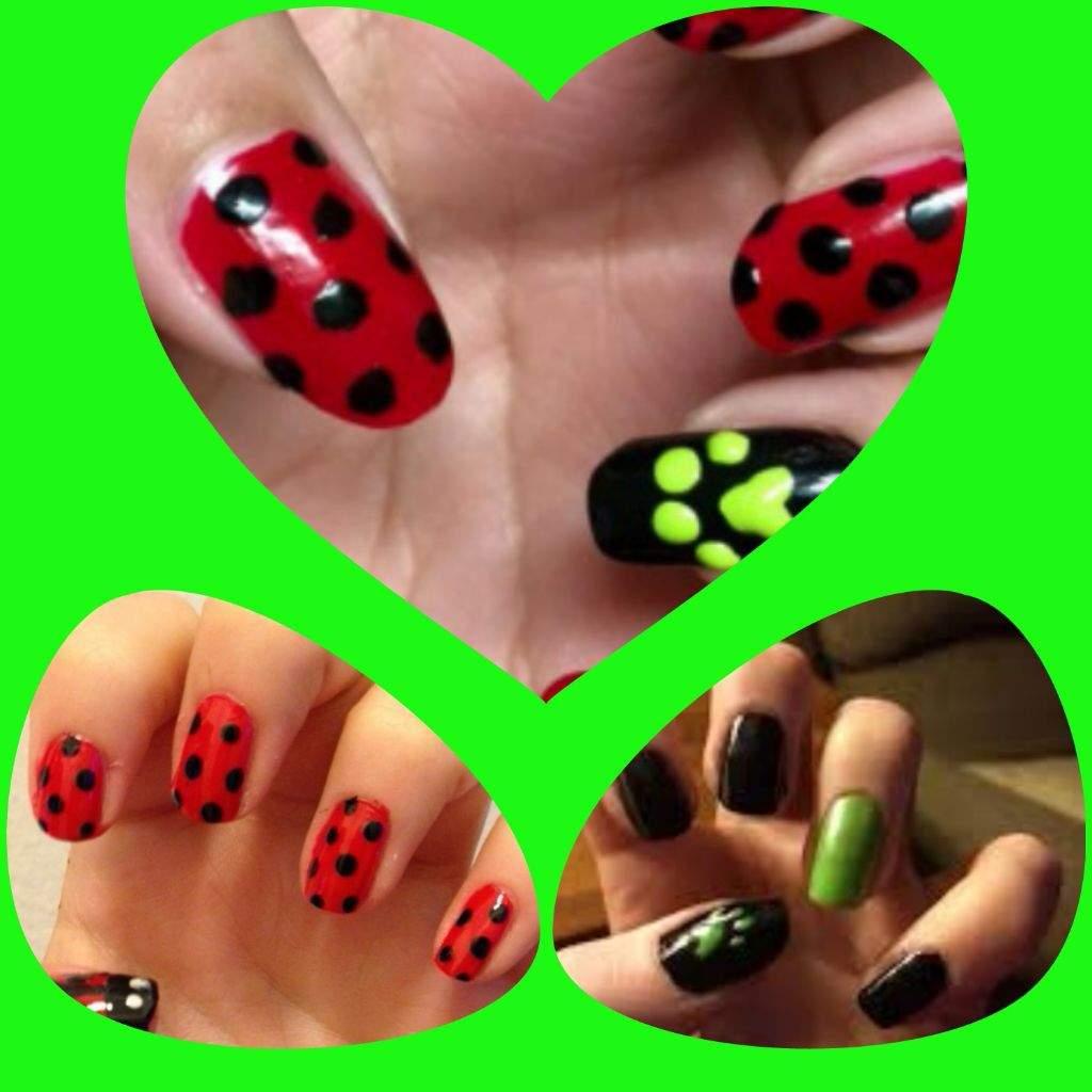 Uñas de Miraculous ladybug | •Miraculous Ladybug Español• Amino