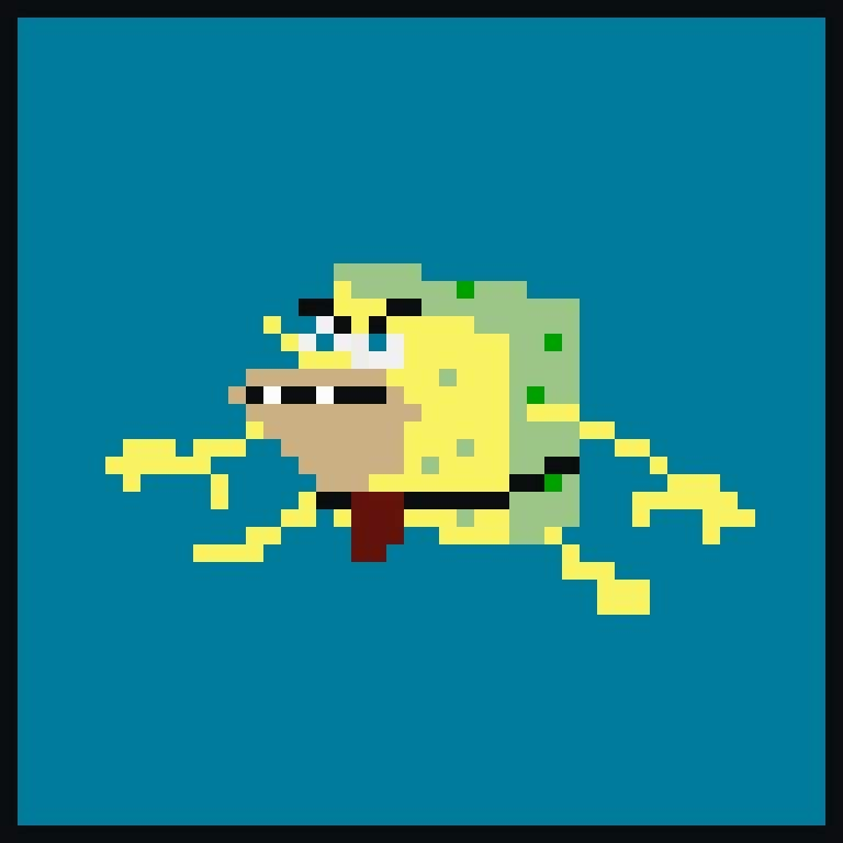 Primitive Spongebob Pixel Art Amino