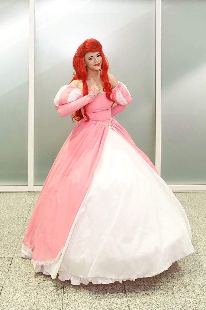 Ariel in her pink ball gown   Cosplay Amino