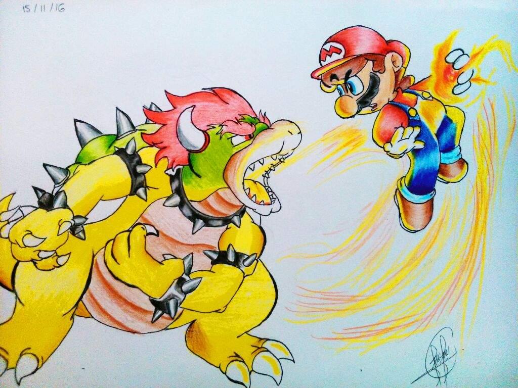 Mario vs bowser ! | •Arte Amino• Amino