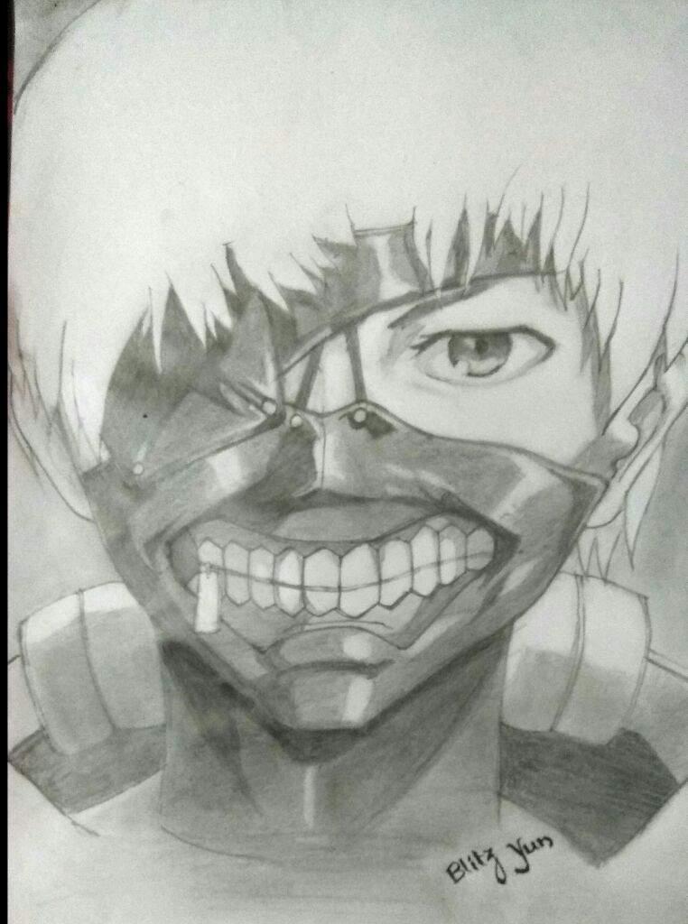 My Pencil Art Kaneki Tokyo Ghoul
