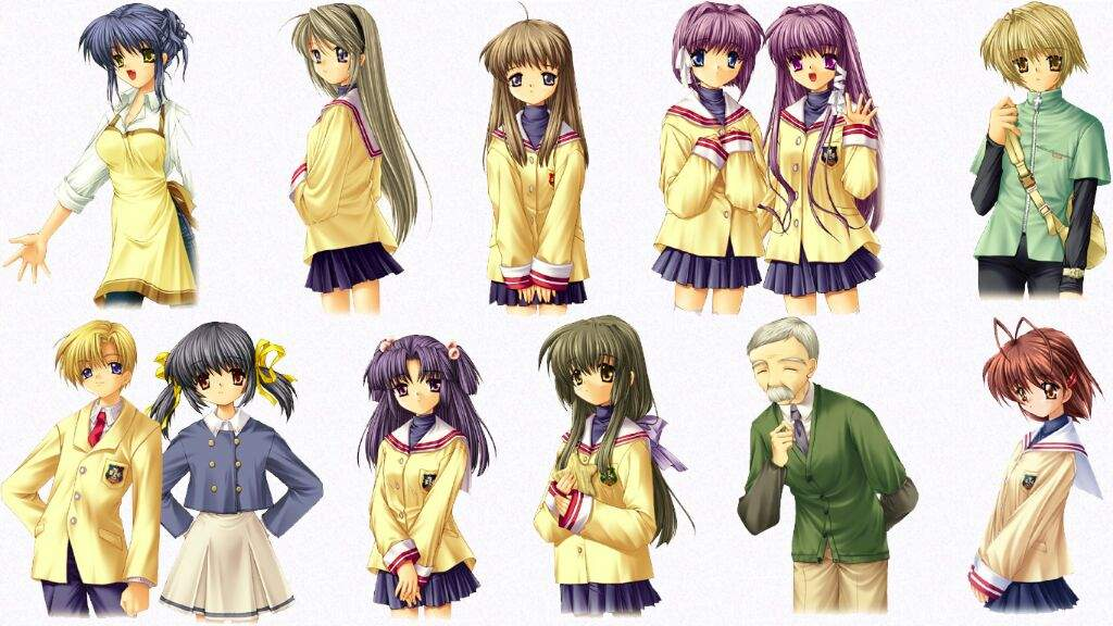 My Top 10 Favourite Characters In Clannad Anime Amino