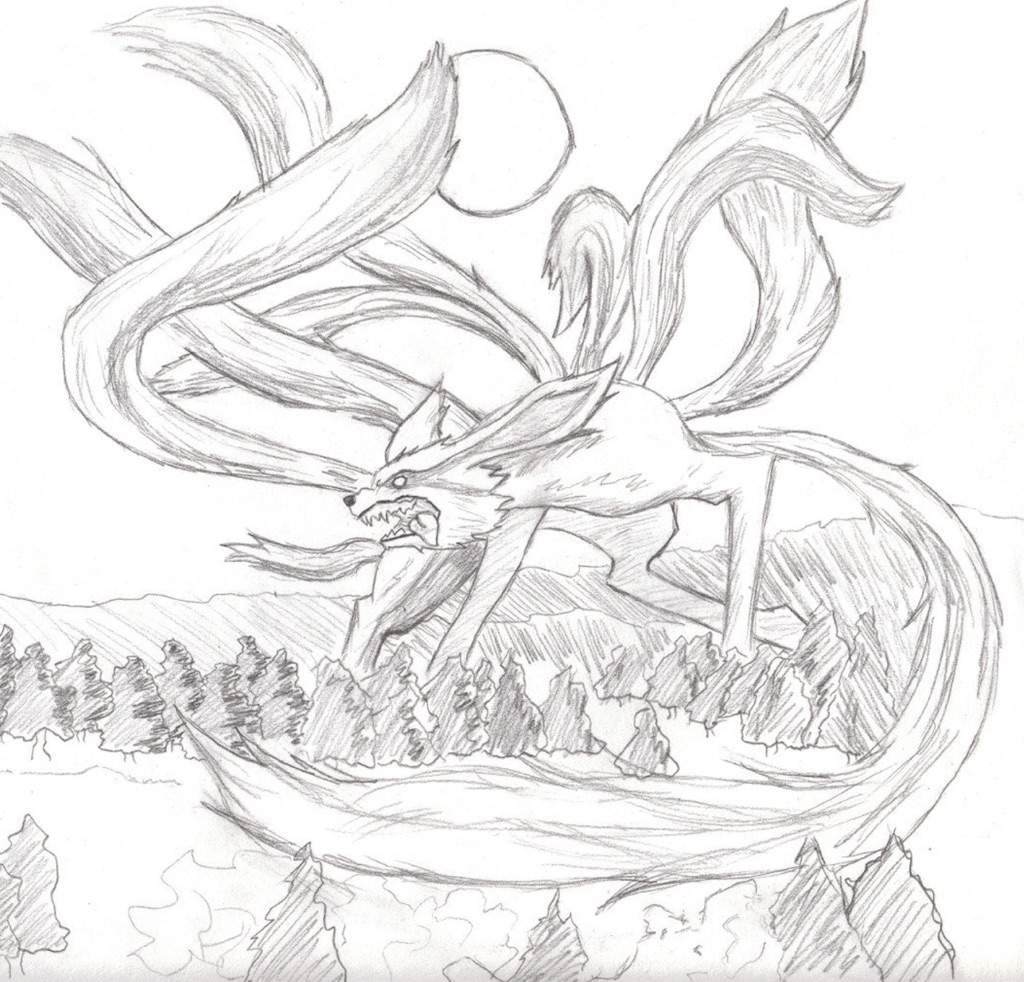 Nine Tailed Fox Naruto Amino