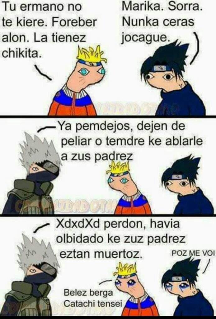 Naruto Y Sasuke Memes En Espanol Gambar Meme Lengkap