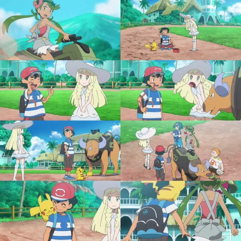 Mellow Begins To Give Ash A Tour Of The Pokemon School Wish Said He Has Roggenrola Eventually And Mallow Arrive At Door Principal