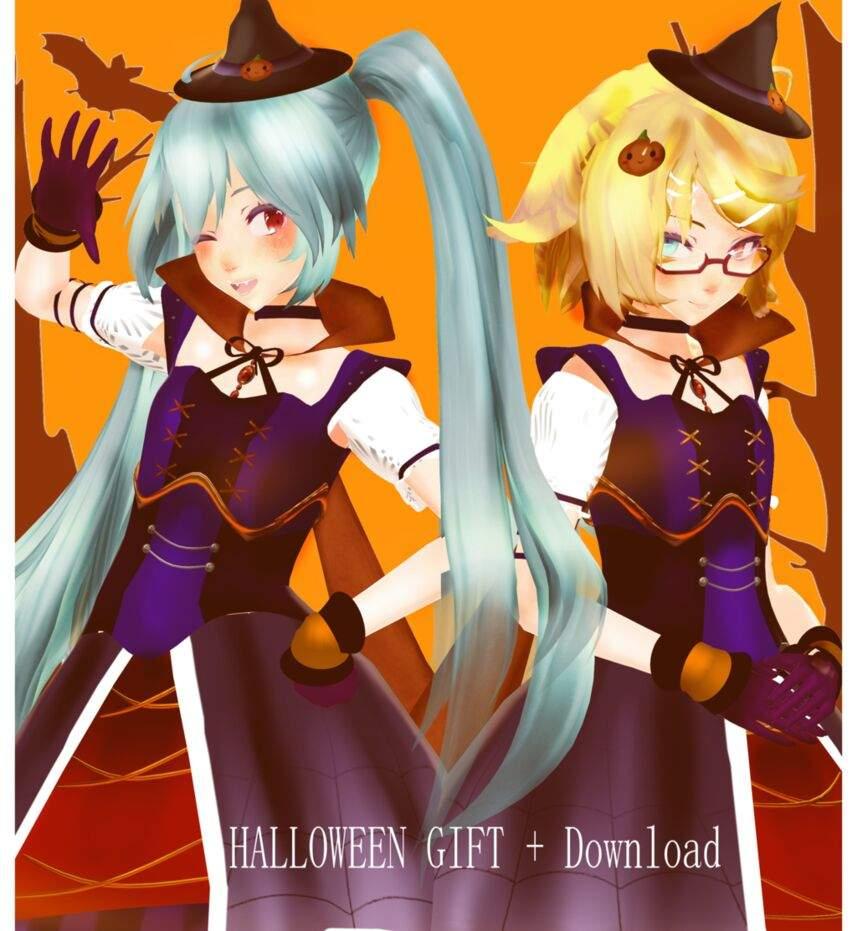Halloween Miku and Rin progress | MMD Amino