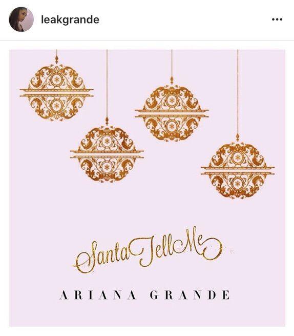 santa tell me the album ariana grande amino