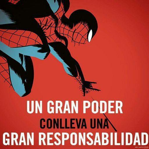 Resultado de imagen de spiderman un gran poder conlleva una gran  responsabilidad