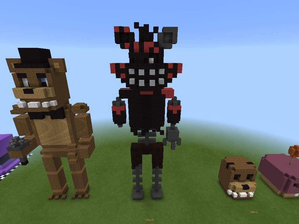 More Old Minecraft Fnaf Statues