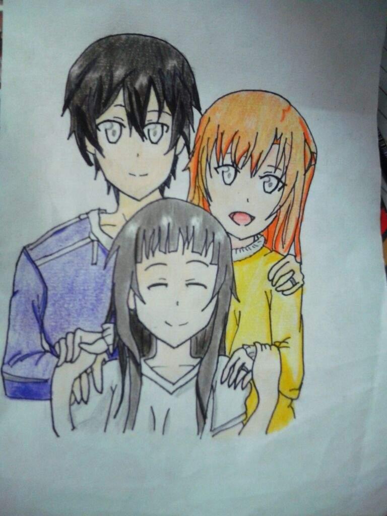 Familia De Kirito Proceso De Dibujo Anime Amino
