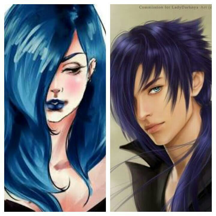 Anime Characters Male Black Hair : Blue hair anime character female and male amino