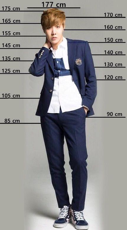 compare sua altura  bts