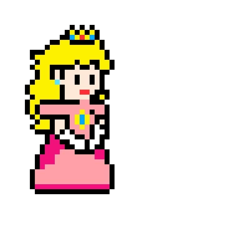 Princess Peach Pixel Art Mario Amino